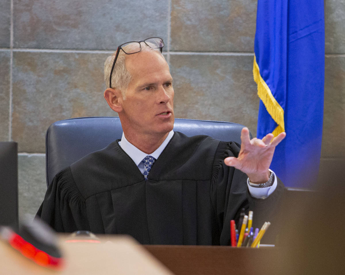 District Judge Douglas Herndon presides over a hearing at the Regional Justice Center in Las Ve ...