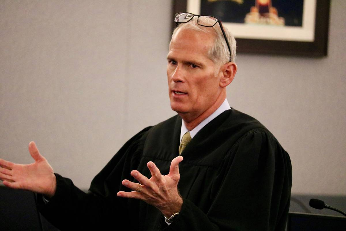District Judge Douglas Herndon. Madelyn Reese/Las Vegas Review-Journal