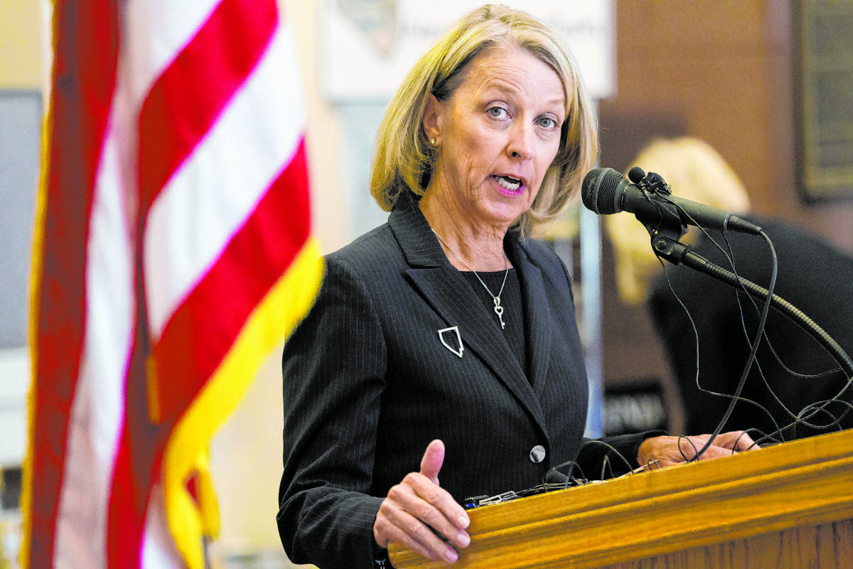 Nevada Secretary of State Barbara Cegavske speaks during a press conference by the Nevada Elect ...