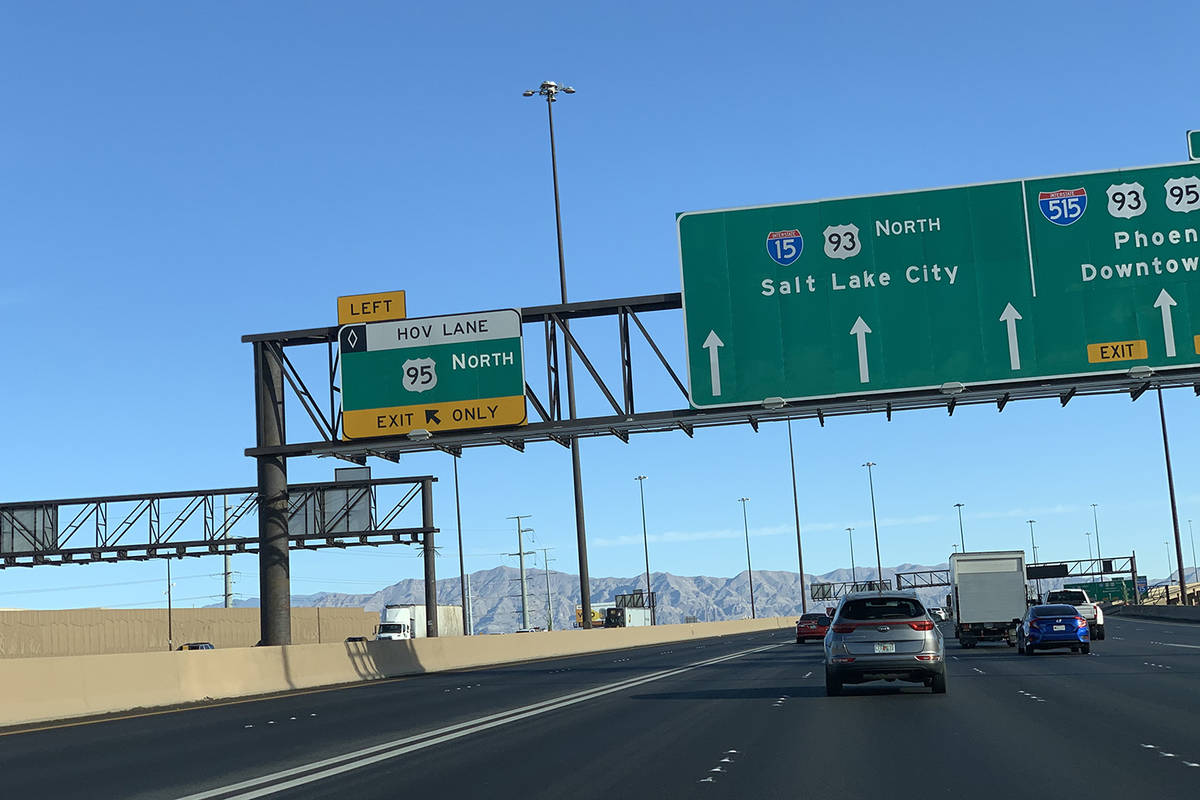 Las Vegas Hov Lanes Adding New Entry Exit Points Las Vegas