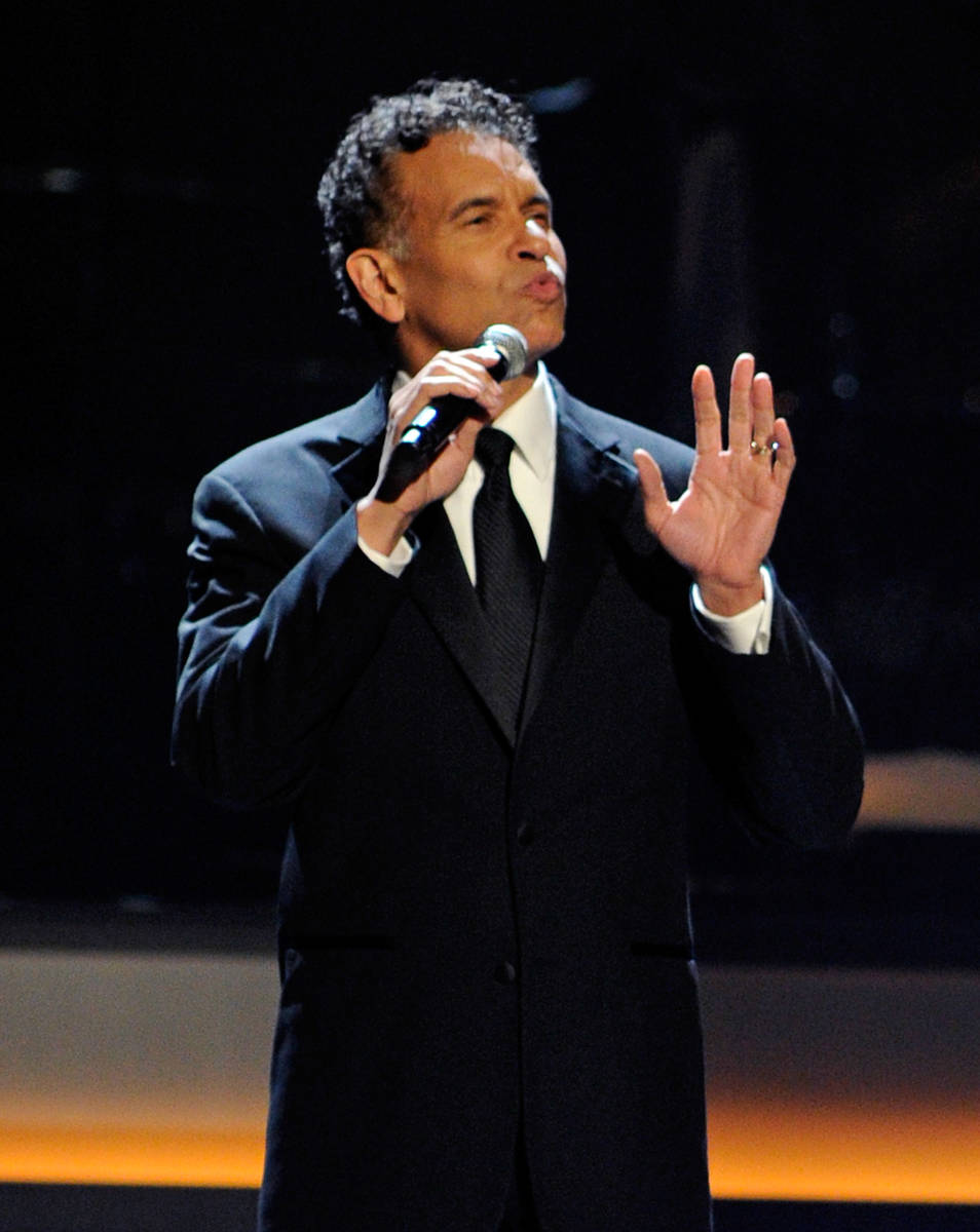 Actor Brian Stokes Mitchell performs during the opening night of The Smith Center for the Perfo ...