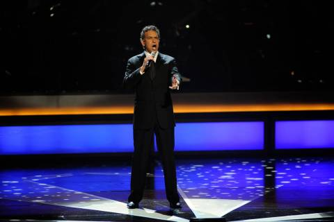 "Actor Brian Stokes Mitchell performs ""The Impossible Dream"" on the opening night of The Smith C ..."