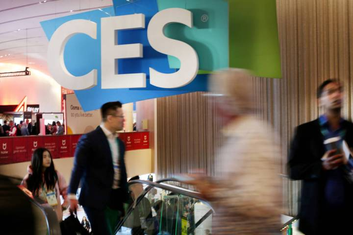 Individuals fill the Sands Expo before CES 2020 floor open on Tuesday, Jan. 7, in Las Vegas. (E ...