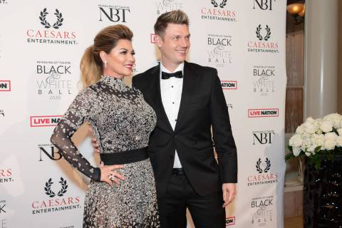Shania Twain and Nick Carter at the Black & White Ball. (Joseph Donato)