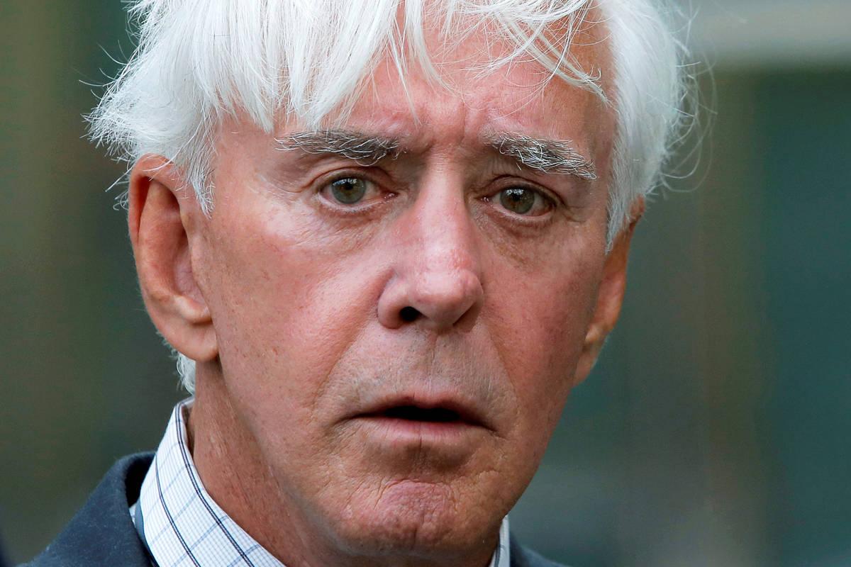 Professional sports gambler Bill Walters departs federal court after a hearing in Manhattan, Ne ...