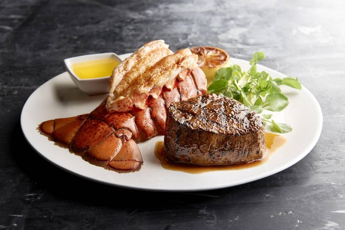 Steak and lobster dinner at Morton's the Steakhouse (Landry's)