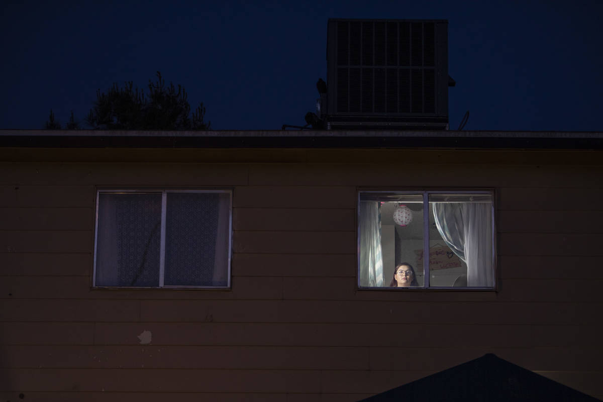 Yayre Ramirez, a senior at Rancho High School, poses for a portrait in her apartment on Wednesd ...