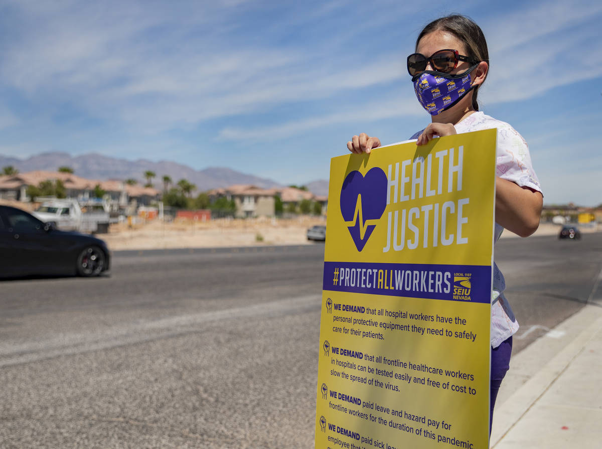 Yarleny, a Local SEIU 1107 members, honors other frontline health care workers and list demands ...