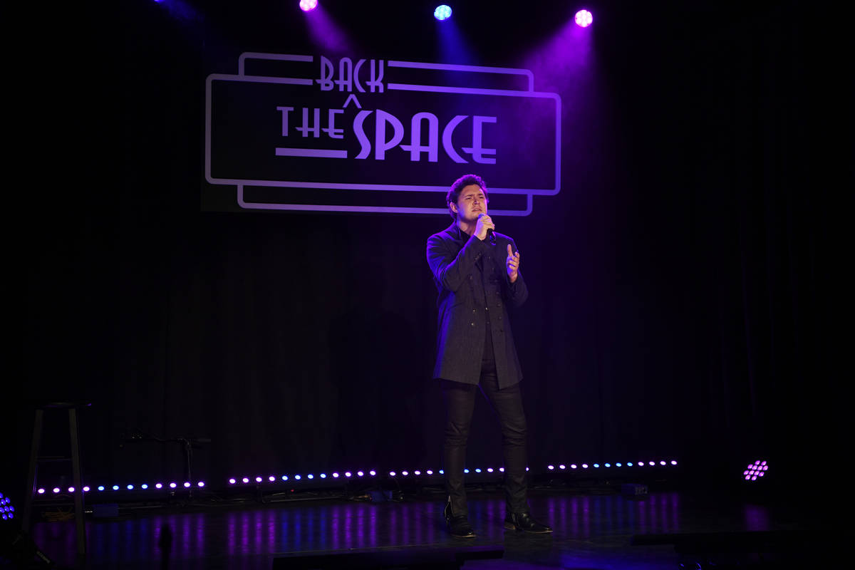 Daniel Emmet performs at the Mondays Dark Live Stream Telethon for the Actors Fund of Las Vegas ...