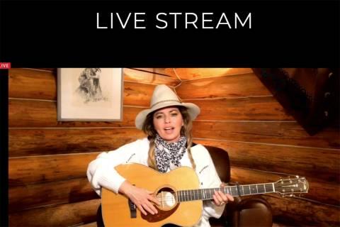 Shania Twain is shown during the Mondays Dark Live Stream Telethon on Monday, April 27, 2020. ( ...
