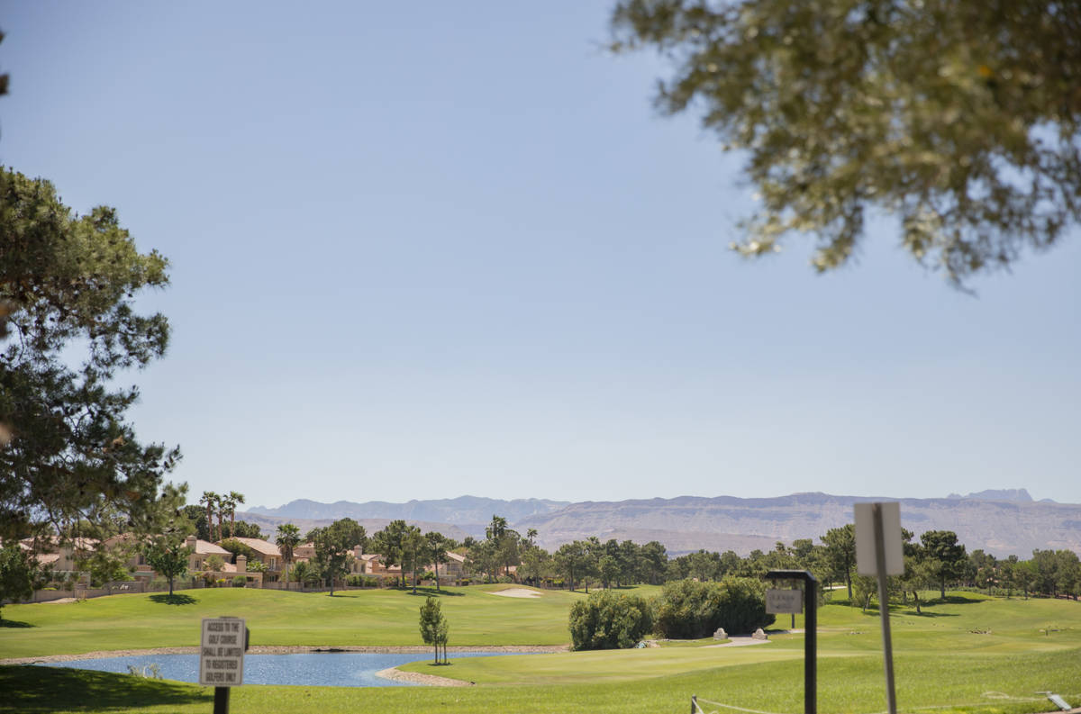 Spanish Trail Country Club and Golf Course is seen in Las Vegas on Thursday, April 20, 2020. (E ...