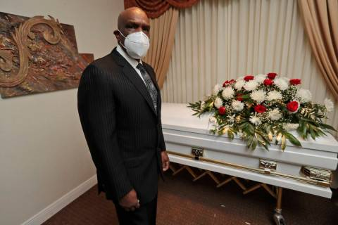 Andre Dawson poses for a photo at Paradise Memorial Funeral Home, Thursday, April 30, 2020, in ...