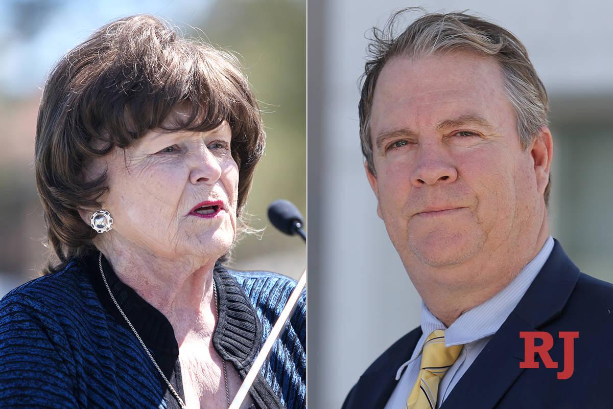 Lois Tarkanian, left, and Bret Whipple, right. (Las Vegas Review-Journal)