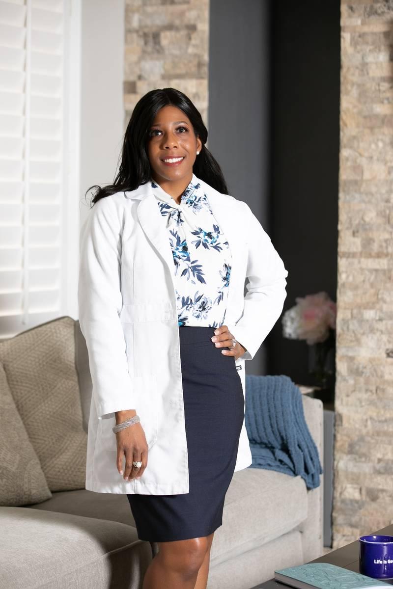 Dr. Christina Madison, a Roseman University professor and public health expert, on handshakes d ...