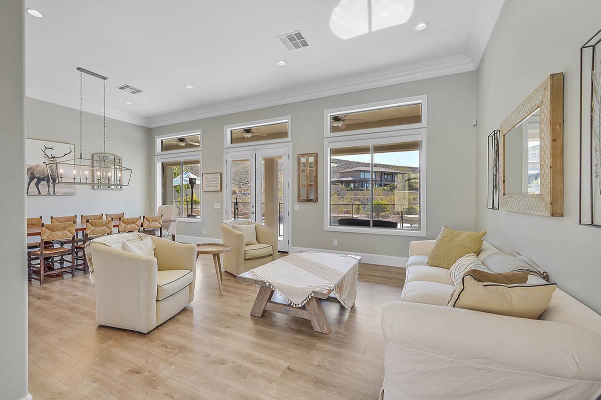 The living area. (Huntington & Ellis)