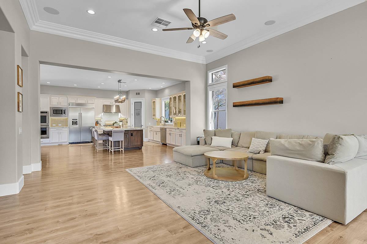 The home has six bedrooms and six baths. (Huntington & Ellis)