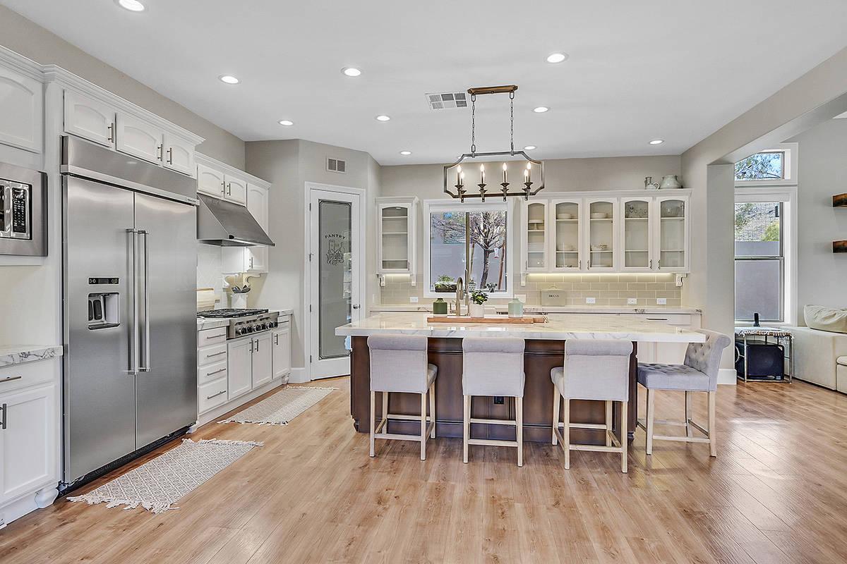 The kitchen. (Huntington & Ellis)