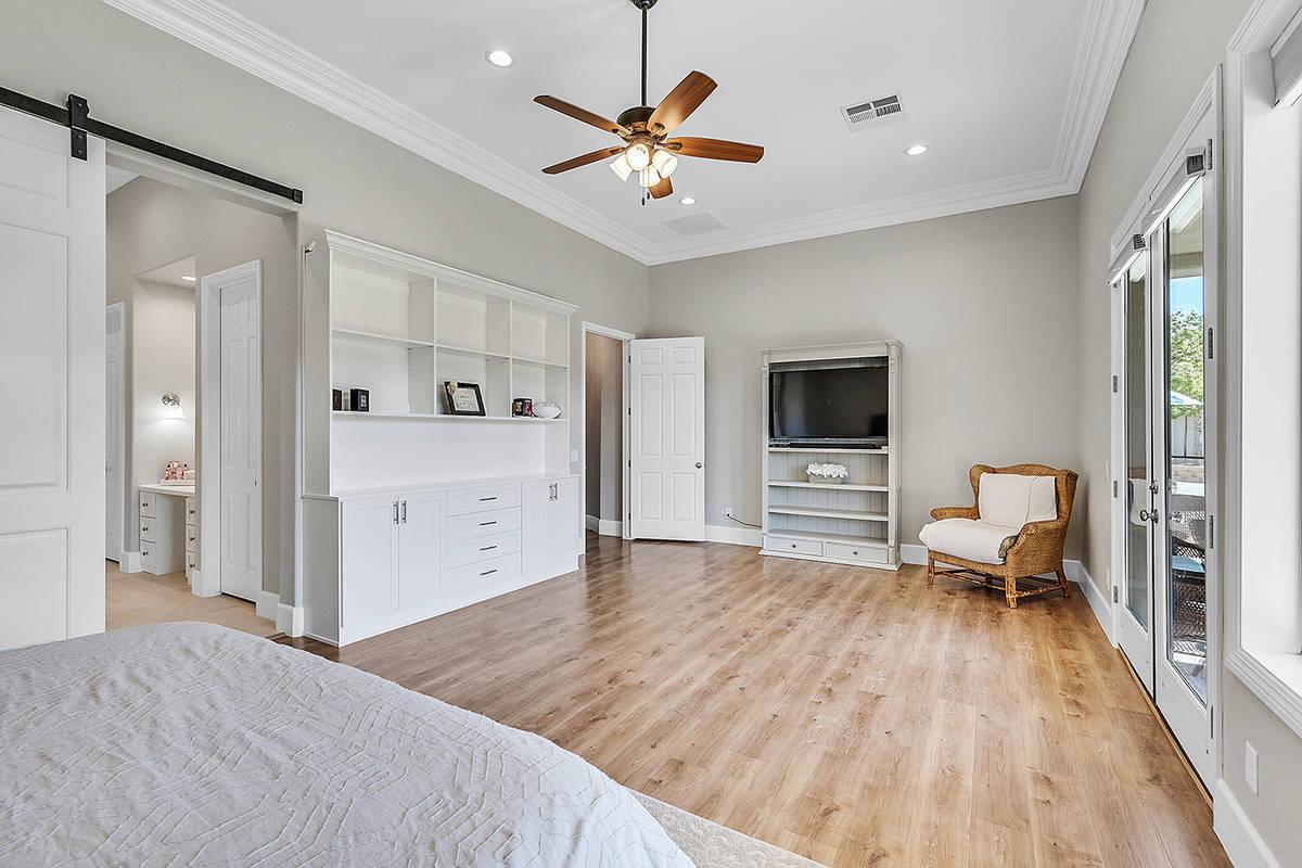 The master bedroom. (Huntington & Ellis)