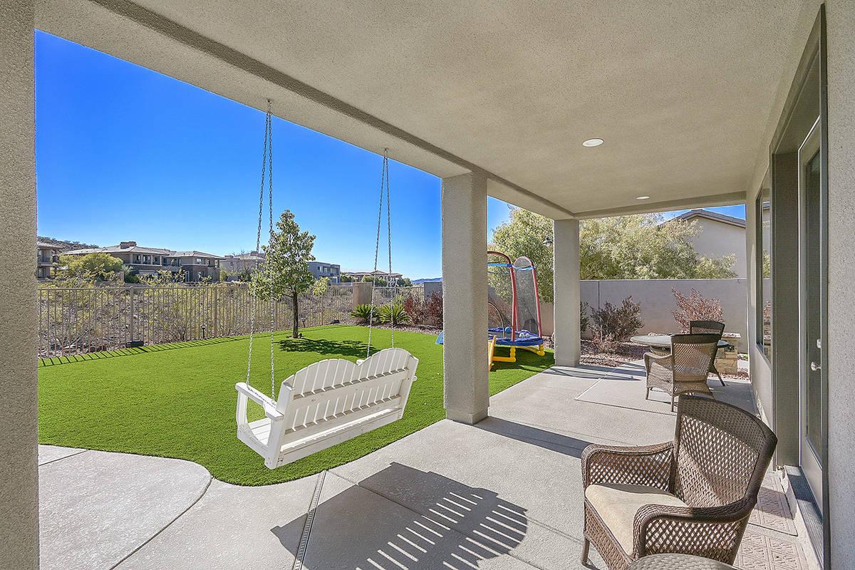 The patio. (Huntington & Ellis)