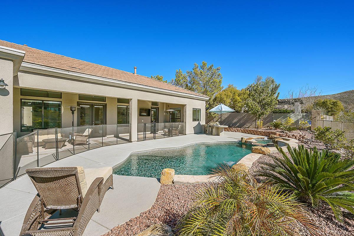 The backyard. (Huntington & Ellis)
