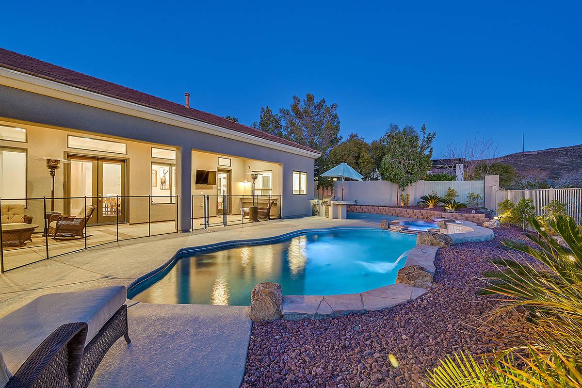 The pool area. (Huntington & Ellis)