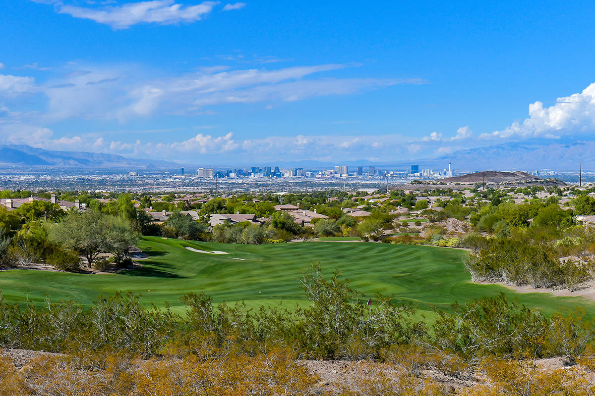 The view of the Strip from Anthem Country Club. (Huntington & Ellis)