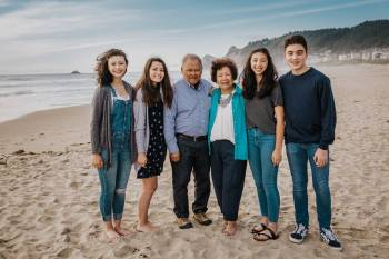 Antonio and Norma Zantua during a family reunion in 2019 on the Oregon coast with their apo — ...