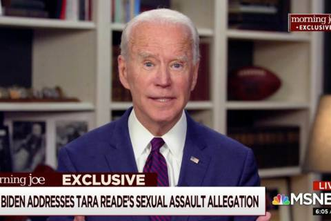 This video framegrab image from MSNBC's Morning Joe, shows Democratic presidential candidate fo ...