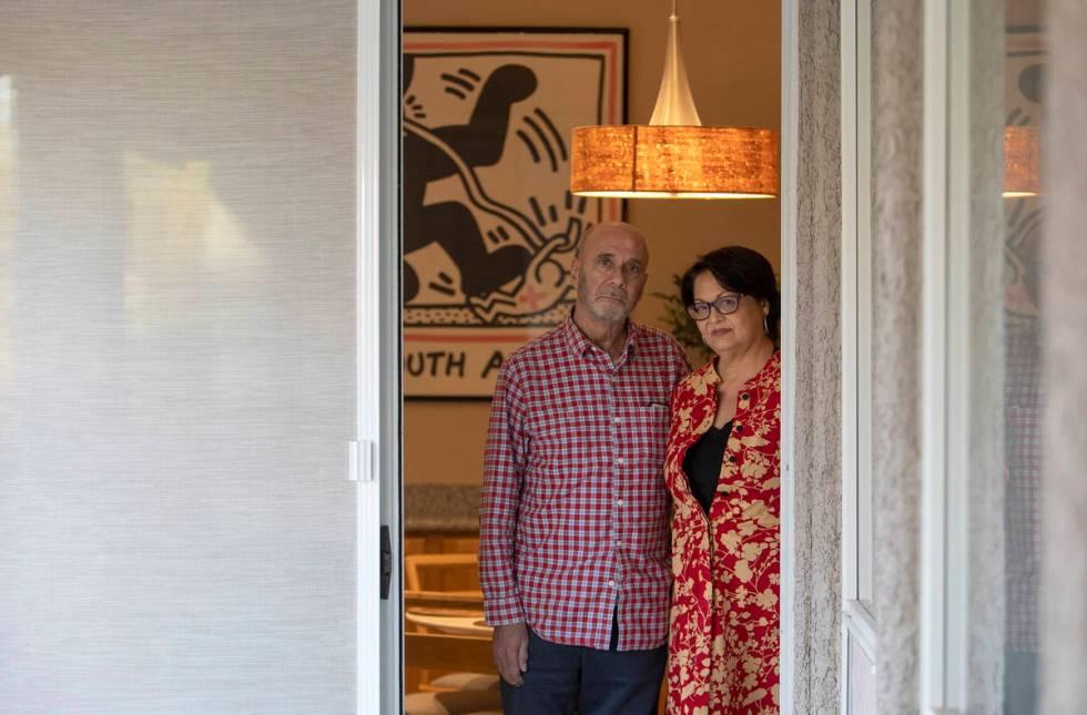 Larry Hatab and Chelsy Carter of Las Vegas. (Ellen Schmidt/Las Vegas Review-Journal) @ellenksch ...