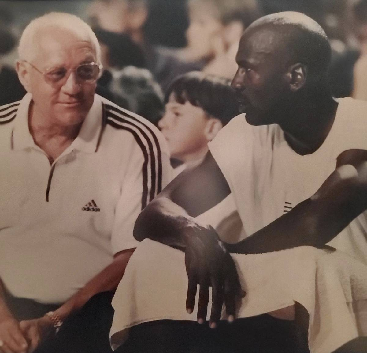Jerry Tarkanian is shown with Michael Jordan in this undated photo. (Freddie Glusman)
