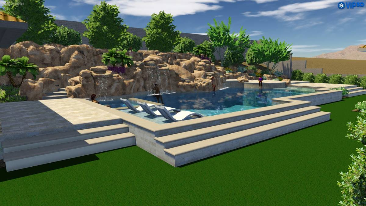 This rendering shows the Southern Highlands home that is being built for a former NBA player Jo ...