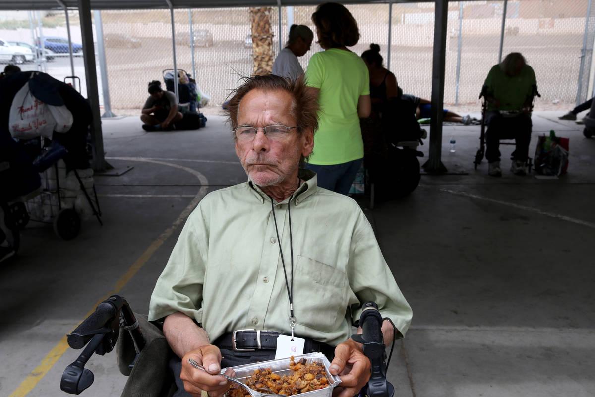 John Salvo, 66, at the Courtyard Homeless Resource Center in downtown Las Vegas Thursday, April ...