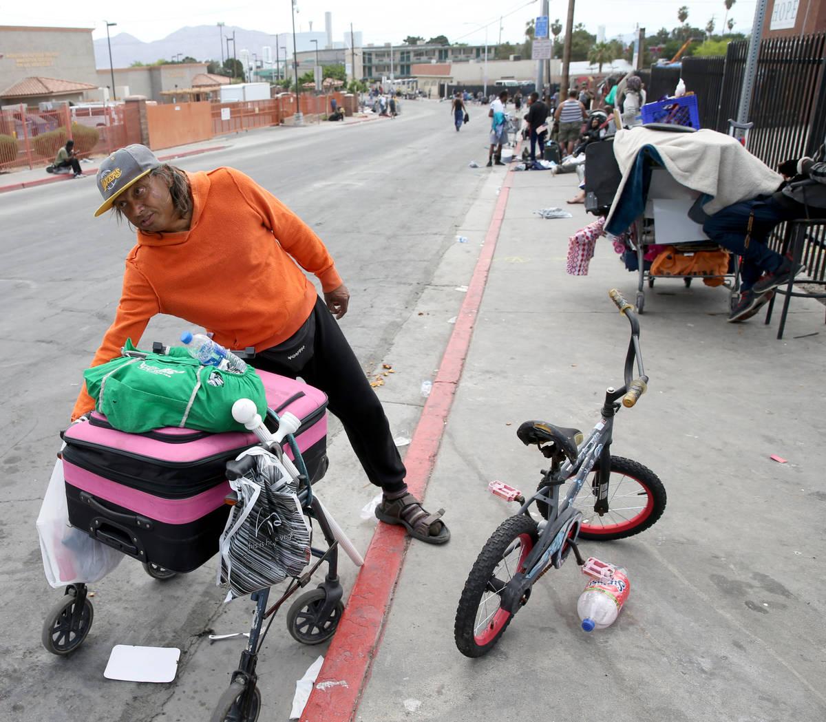 Julio Gonzalez, 52, on Foremaster Lane between Las Vegas Boulevard and Main Street in downtown ...