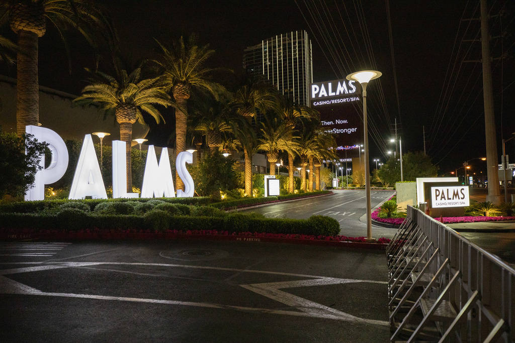 The Palms is closed amid coronavirus nonessential business closures on Thursday, April 9, 2020, ...