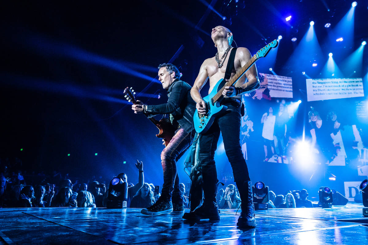 Vivian Campbell, left, and Phil Collen are shown as Def Leppard opens its 12-show residency run ...