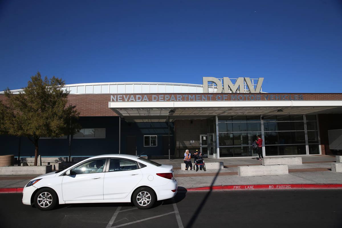The Nevada Department of Motor Vehicles on East Sahara Avenue in Las Vegas (Erik Verduzco/Las V ...