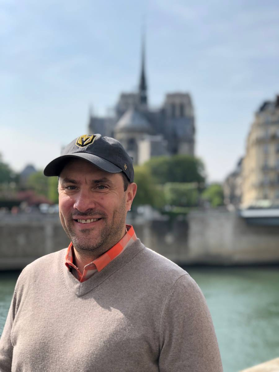 Luxor President and Chief Operating Officer Cliff Atkinson is shown in front of Notre Dame Cath ...