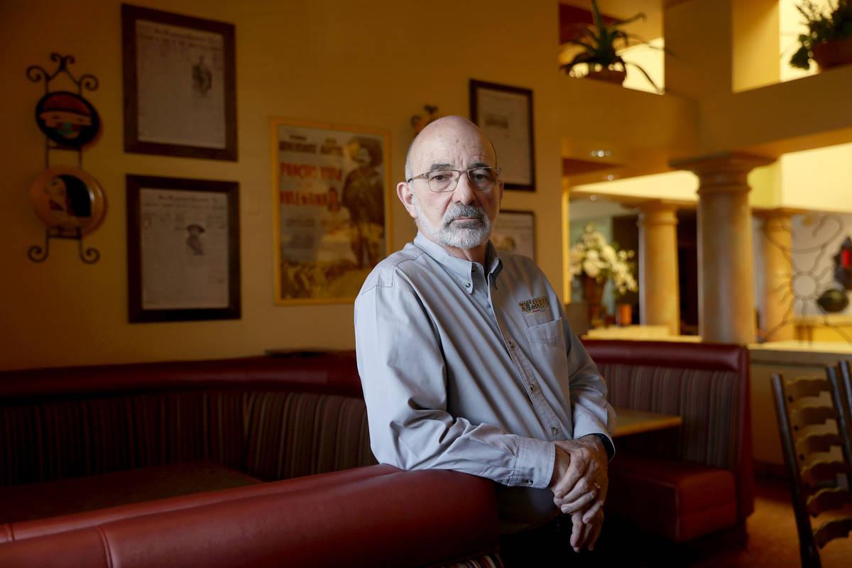 Bob Ansara, owner of Ricardo's restaurant, 4930 W Flamingo Road, in Las Vegas, Saturday, May 2, ...