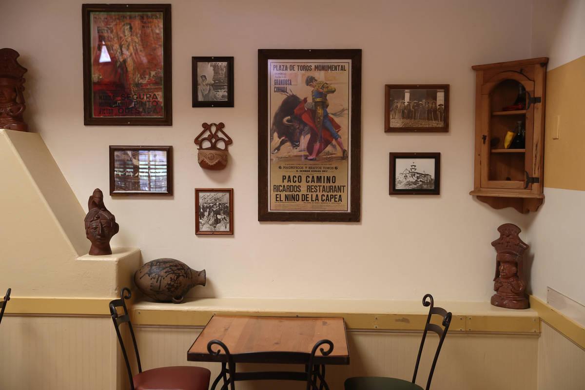 Ricardo's restaurant, 4930 W Flamingo Road, in Las Vegas, Saturday, May 2, 2020. (Erik Verduzco ...