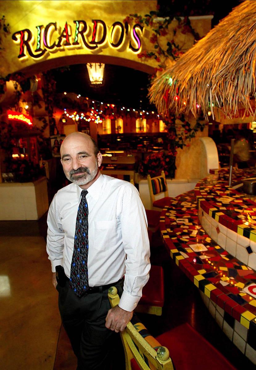 Bob Ansara of Ricardo's restaurant pictured in 2003. (Las Vegas Review-Journal file)