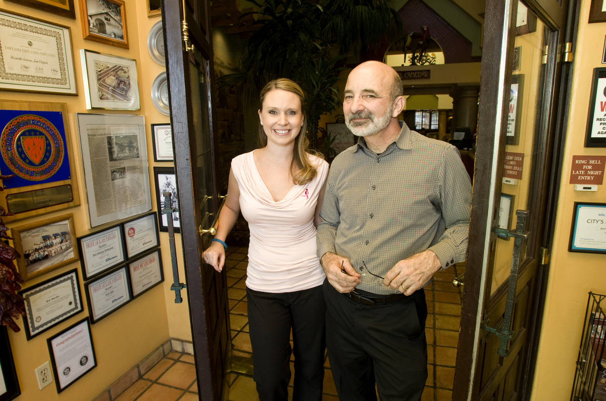 Sara Ansara, left, and her father Bob Ansara, owner of Ricardo's pictured in October 2010. (Las ...