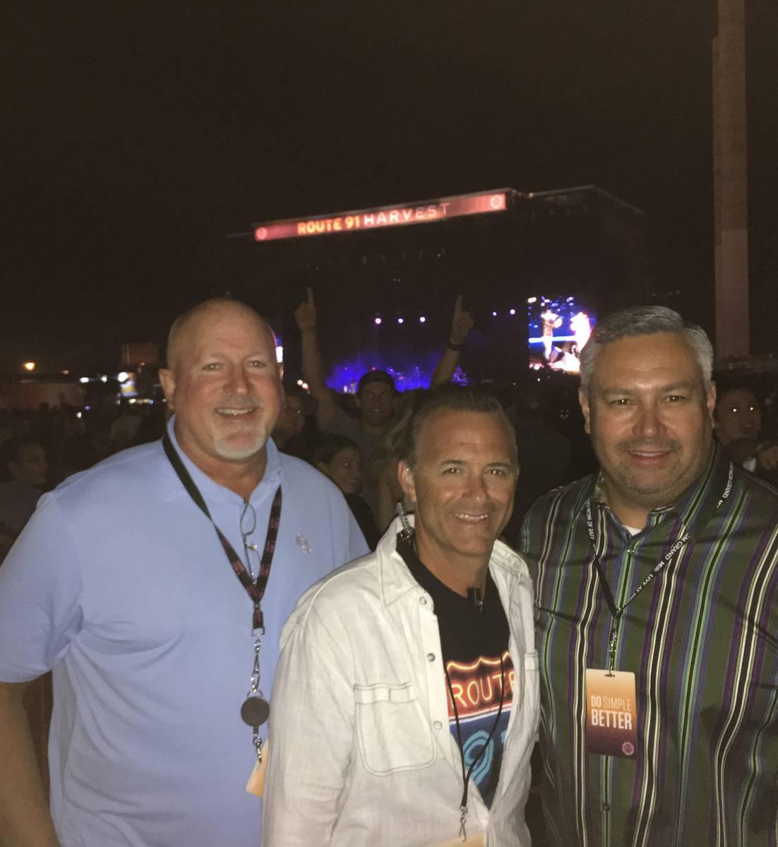 MGM Resorts International entertainment execs Mark Prows, Daren Libonati and Chris Baldizan are ...