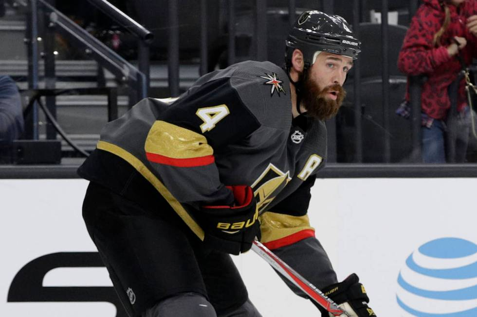 The Knights accepted Shea Theodore in exchange for selecting Clayton Stoner from Anaheim. (AP P ...