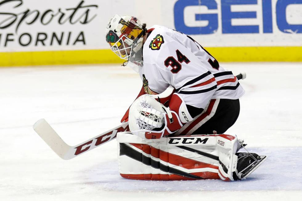 The Golden Knights selected goalie Jean-Francois Berube from the New York Islanders. (AP Photo/ ...
