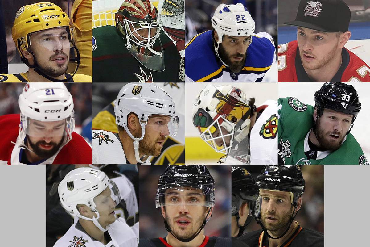 The 11 players whom the Golden Knights drafted in their 2017 expansion draft, but never suited ...