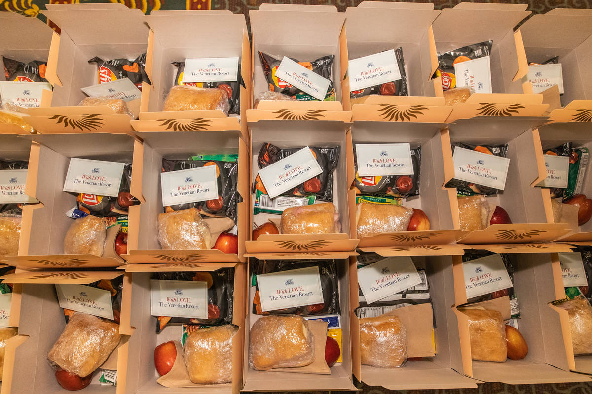 The Venetian Resort Donates Thousands of Boxed Meals to Catholic Charities of Southern Nevada ( ...