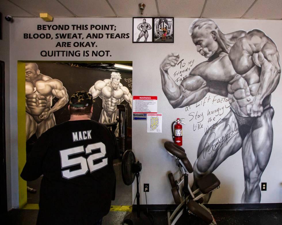 Paul Minor arrives at The Lift Factory in Las Vegas on Thursday, Feb. 27, 2020. (Chase Stevens/ ...