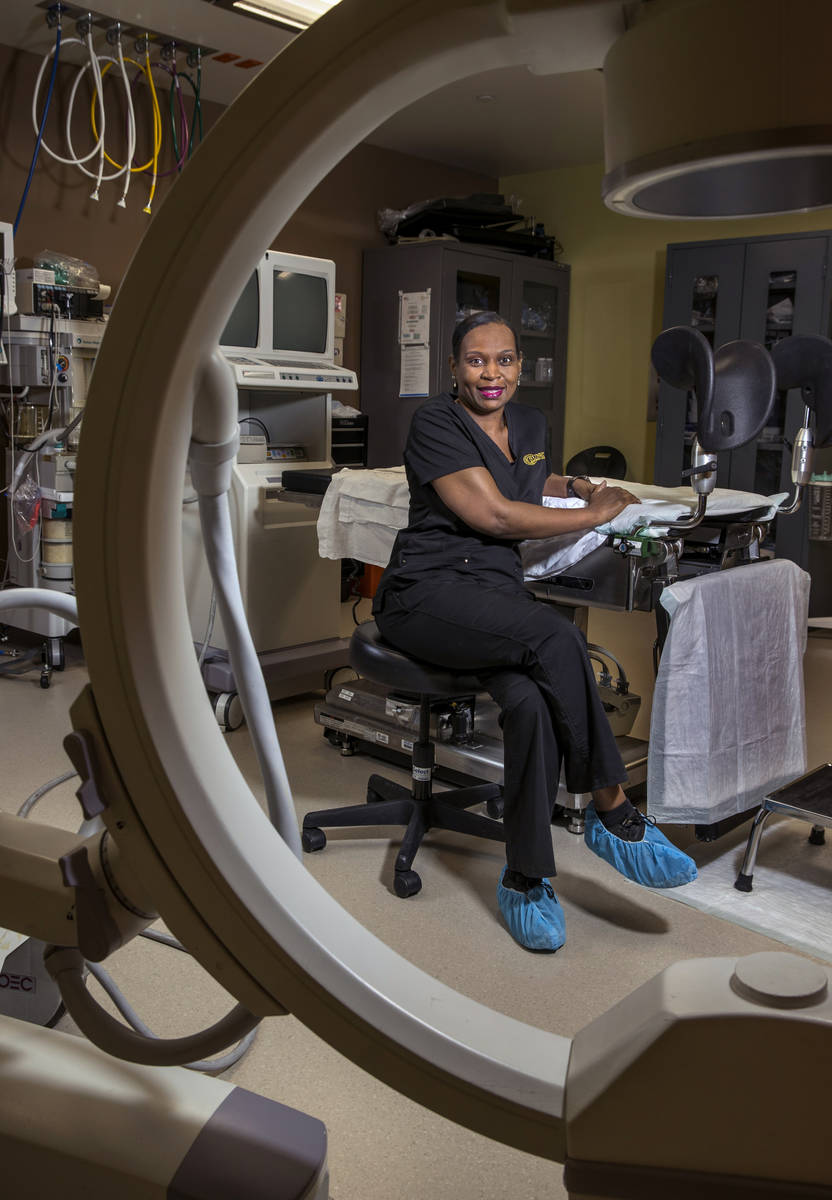 Nurse Nita Peterson in the surgical room of the Red Rock Fertility Center for Nurse Appreciatio ...