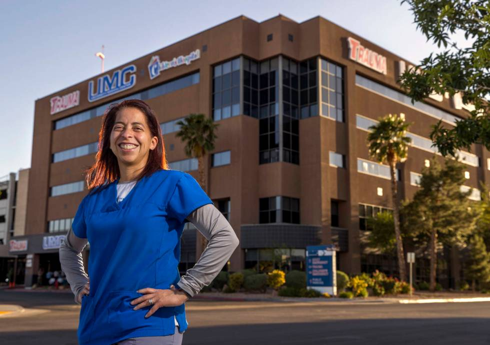 Digna James is a charge RN at University Medical Center Trauma in Las Vegas. (L.E. Baskow/Las V ...