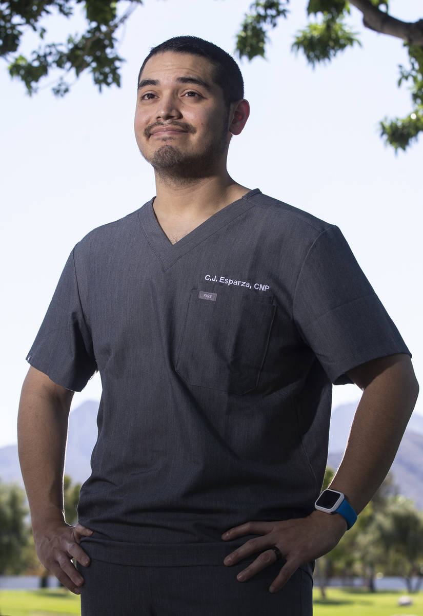 Emergency room nurse practitioner Carlos Esparza is on the management team for Optum. Photo tak ...